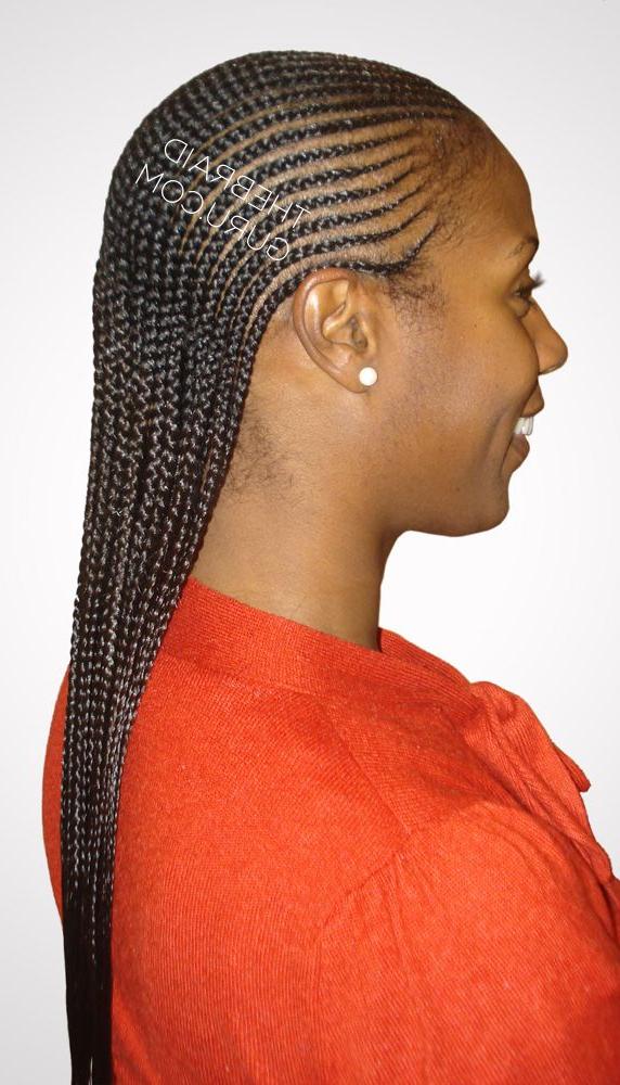 2 Layer Feed In Cornrows – Side View Braidsthebraidguru In Recent Cornrow Fishtail Side Braided Hairstyles (View 6 of 25)