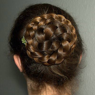 2 Messy Bun Hairstyle With Braids Regarding Current Cinnamon Bun Braided Hairstyles (View 8 of 25)