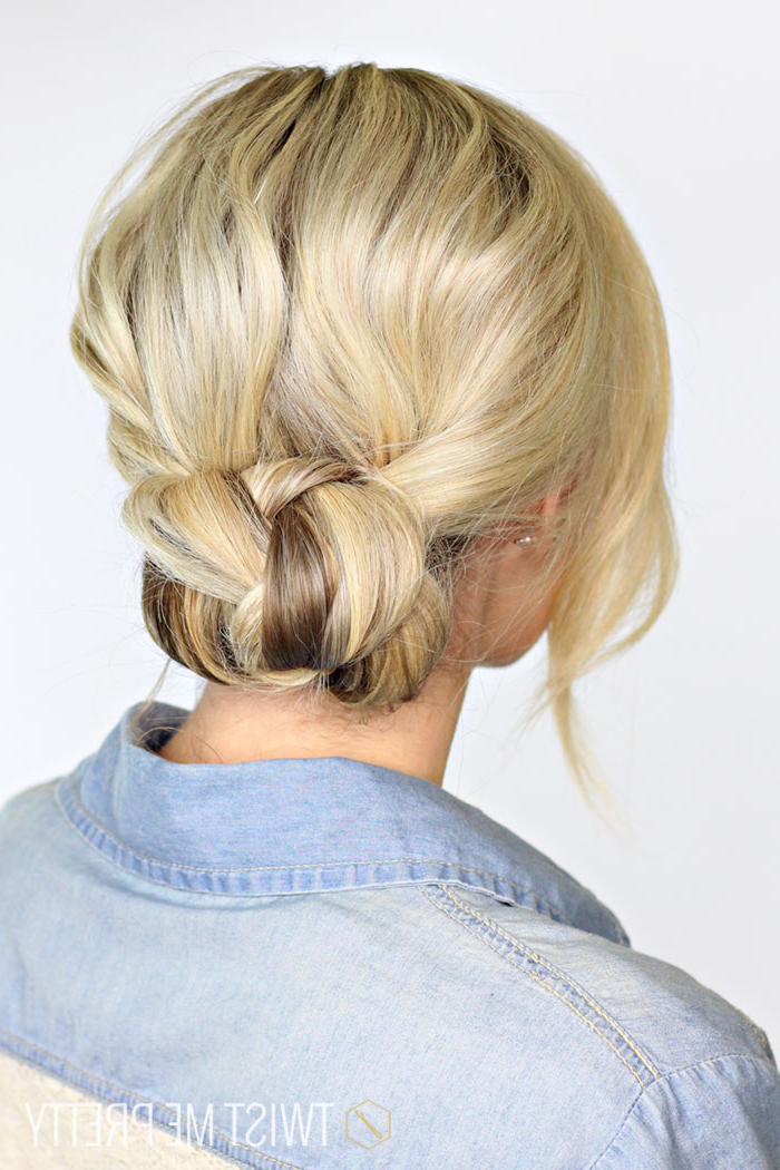 2 Minute Braided Bun – Twist Me Pretty With Simple Pony Updo Hairstyles With A Twist (View 25 of 25)