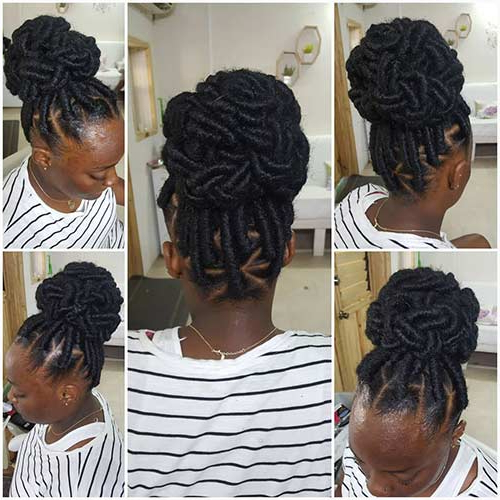 20 Beautiful Braided Updos For Black Women Within Criss Cross Braid Bun Hairstyles (View 23 of 25)