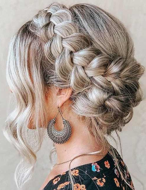 20 Beautiful Crown Braid Hairstyles Pertaining To Crown Braid Hairstyles (View 8 of 25)