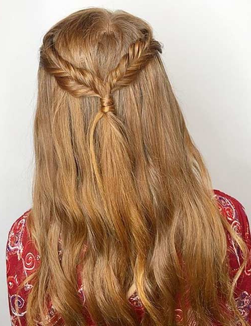 20 Beautiful Crown Braid Hairstyles With Most Recently Fishtail Crown Braided Hairstyles (View 18 of 25)