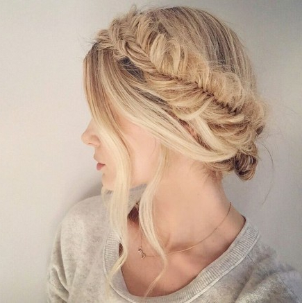 20 Beautiful Fishtail Braided Hairstyles | Styles Weekly With Regard To Fishtail Braid Updo Hairstyles (View 5 of 25)