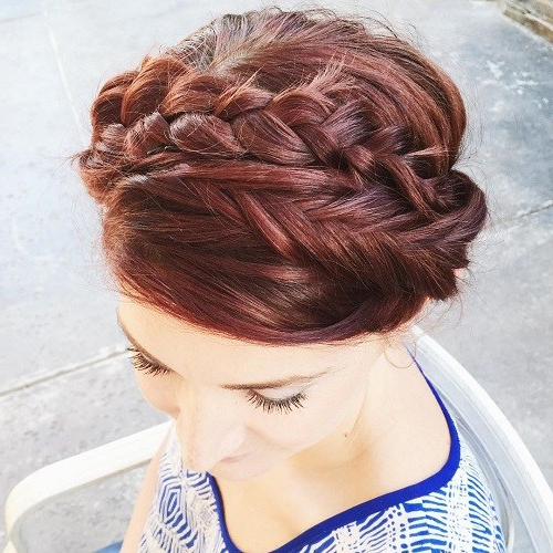 20 Best Milkmaid Hairstyles – Pretty Milkmaid Braid For Pertaining To Best And Newest Milkmaid Crown Braided Hairstyles (View 12 of 25)