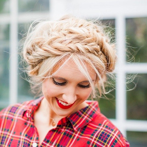 20 Best Milkmaid Hairstyles – Pretty Milkmaid Braid For With Most Up To Date Milkmaid Crown Braided Hairstyles (View 16 of 25)
