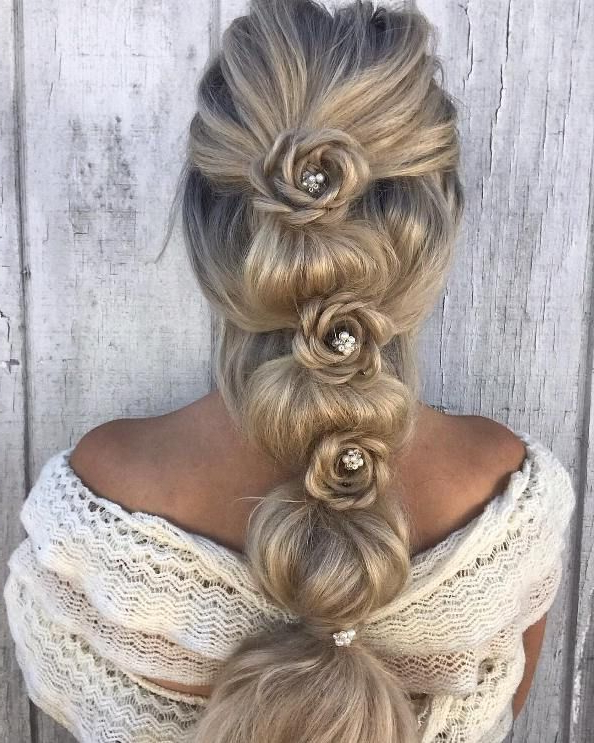 Featured Photo of Bubble Braid Updo Hairstyles