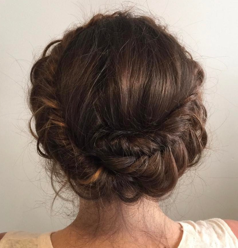 20 Halo Braid Ideas To Try In 2019 Pertaining To Ethereal Updo Hairstyles With Headband (View 11 of 25)