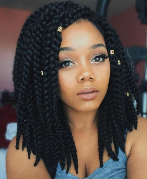 20 Ideas For Bob Braids In Ultra Chic Hairstyles In 2019 Inside Most Current Twisted Lob Braided Hairstyles (View 6 of 25)