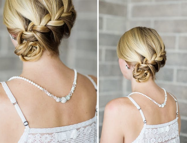 20 Low Buns To Make You Forget The Topknot | Brit + Co In Blinged Out Bun Updo Hairstyles (View 22 of 25)