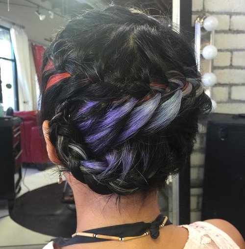 20 Pretty Ideas Of Peek A Boo Highlights For Any Hair Color With Most Recent Peek A Boo Braided Hairstyles (View 21 of 25)