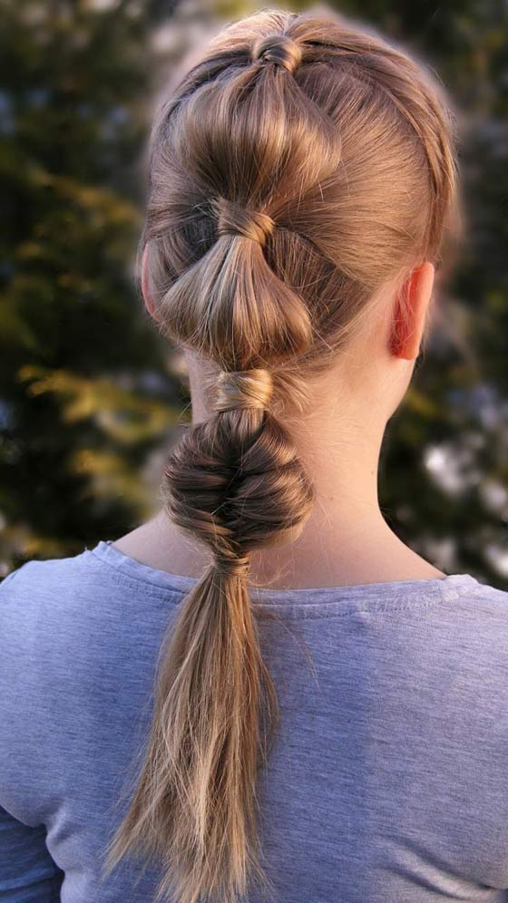 20 Quick And Easy Braids For Kids (Tutorial Included) Inside Bubble Braid Updo Hairstyles (View 17 of 25)