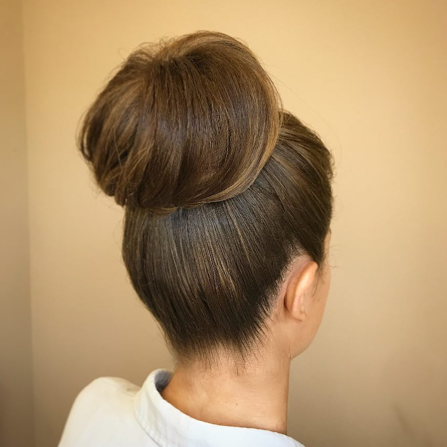 20 Simple Updos That Are Super Cute & Easy (2019 Trends) With Regard To High Volume Donut Bun Updo Hairstyles (View 19 of 25)