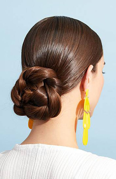 20 Stylish Bun Hairstyles That You Will Want To Copy – The Throughout Most Recently French Braid Low Chignon Hairstyles (View 25 of 25)
