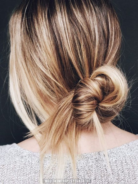 20 Super Easy Updos For Beginners – Thefashionspot With Regard To Tie It Up Updo Hairstyles (View 17 of 25)