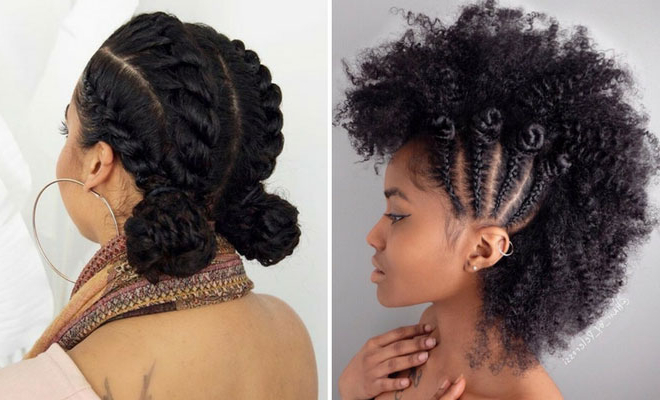 21 Chic And Easy Updo Hairstyles For Natural Hair | Stayglam Pertaining To Natural Bangs Updo Hairstyles (View 17 of 25)