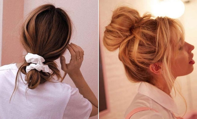 21 Cute And Easy Messy Bun Hairstyles | Stayglam Throughout Messy Bun Hairstyles (View 24 of 25)
