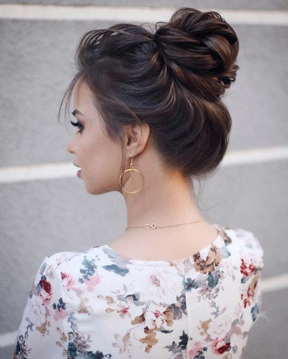 21 Cute And Easy Messy Bun Hairstyles | Stayglam Throughout Messy Bun Hairstyles (View 17 of 25)