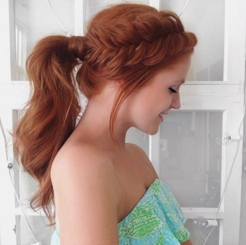 21 Cute & Easy Updo Hairstyles | Love Ambie Inside Wrap Around Ponytail Updo Hairstyles (View 22 of 25)