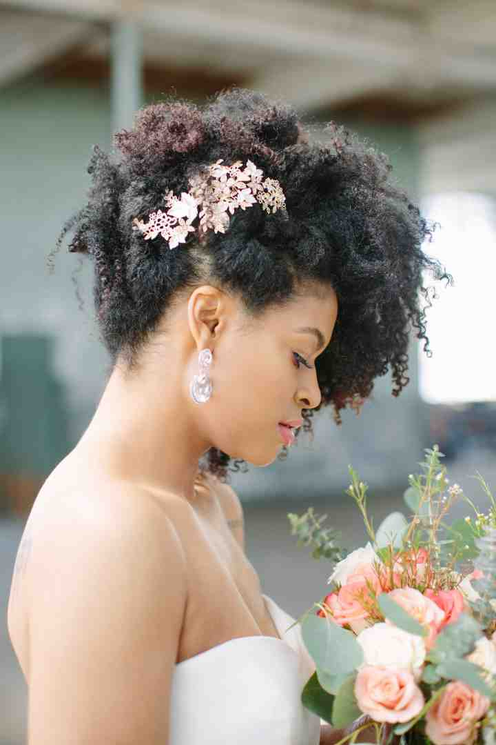 21 Natural Wedding Hairstyles For Every Length – Weddingwire Inside Naturally Textured Updo Hairstyles (View 17 of 25)