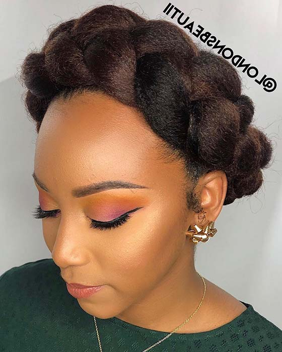 21 Pretty Halo Braid Hairstyles To Try In 2019 | Stayglam With Recent Halo Braided Hairstyles (View 11 of 25)