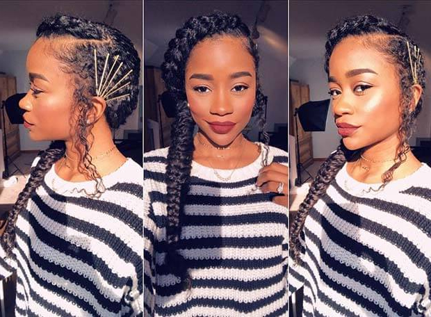 23+ Accessorized Fishtail Braids Hairstyles For Black Women In Most Recently Cornrow Fishtail Side Braided Hairstyles (View 8 of 25)