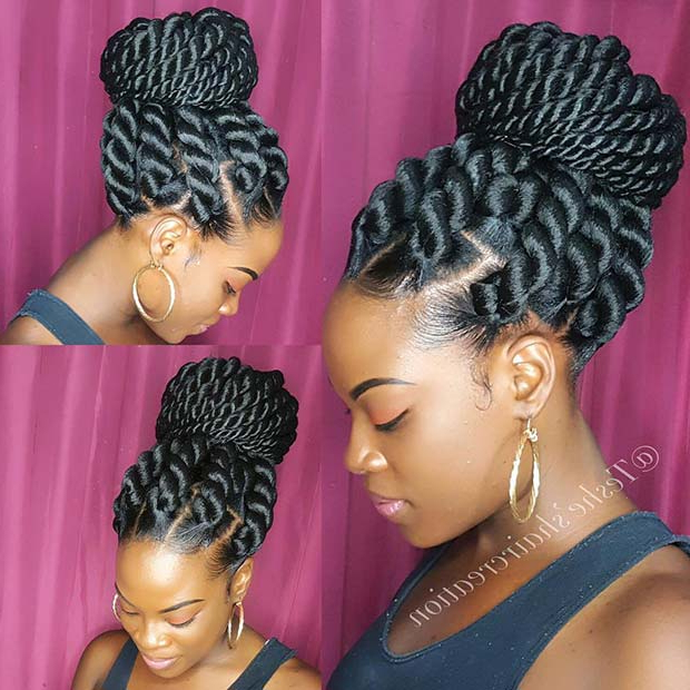 23 Eye Catching Twist Braids Hairstyles For Black Hair Within Twists And Braid Hairstyles (View 20 of 25)
