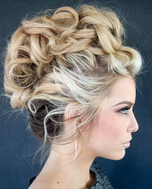 23 Faux Hawk Hairstyles For Women   Stayglam Hairstyles Throughout Curly Mohawk Updo Hairstyles (View 8 of 25)
