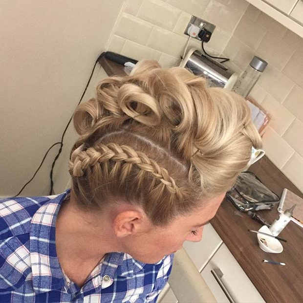 23 Faux Hawk Hairstyles For Women | Stayglam Intended For Most Up To Date Faux Hawk Braided Hairstyles (View 17 of 25)