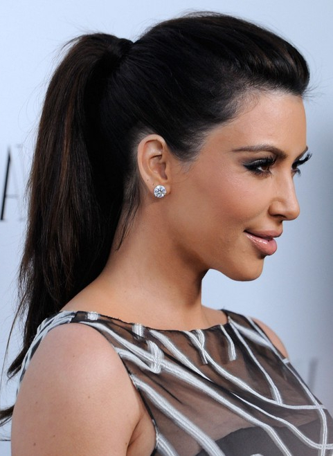 23 Kim Kardashian Hairstyles – Popular Haircuts With Latest Billowing Ponytail Braided Hairstyles (View 25 of 25)