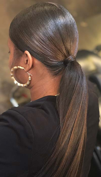 23 New Ways To Wear A Weave Ponytail | Stayglam Intended For Low Ponytail Hairstyles (View 5 of 25)