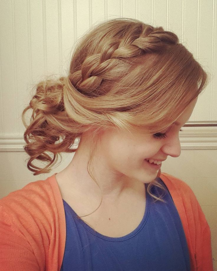 23 Stunning French Braided Buns For Women – Hairstylecamp In Reverse French Braid Bun Updo Hairstyles (View 16 of 25)