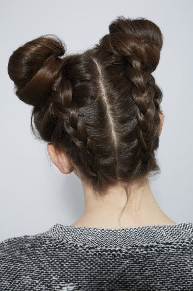 23 Super Easy Braided Updos For Every Occasion | All Things Hair For Braided Space Buns Updo Hairstyles (View 6 of 25)