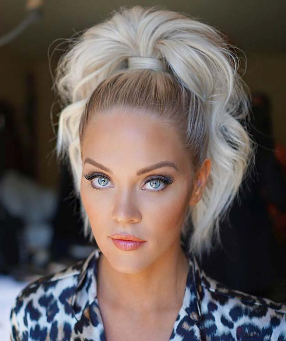 23 Super Easy Updos For Busy Women | Stayglam Within Sky High Pony Updo Hairstyles (View 6 of 25)