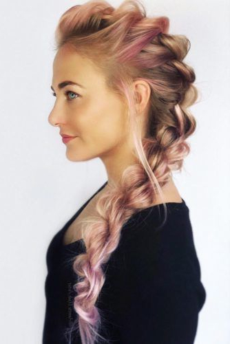 24 Cool And Daring Faux Hawk Hairstyles For Women – Crazyforus Inside Most Up To Date Faux Hawk Braided Hairstyles (View 6 of 25)