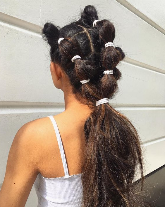 25 Best Bubble Ponytail Hairstyles 2019 In Natural Bubble Ponytail Updo Hairstyles (View 10 of 25)
