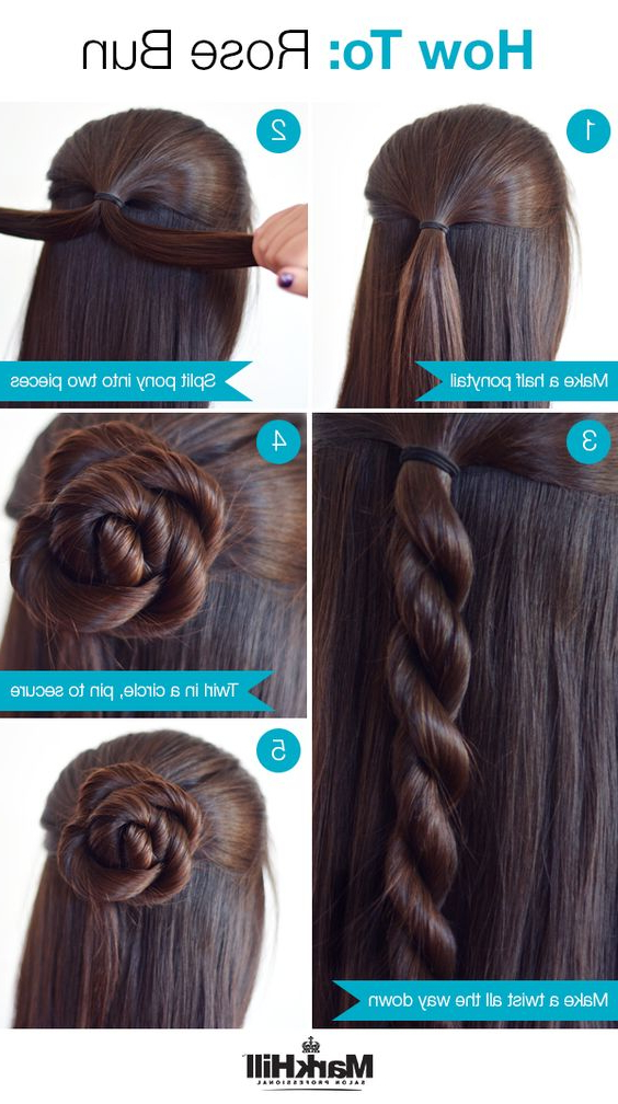 26 Amazing Bun Updo Ideas For Long & Medium Length Hair Regarding Simple Pony Updo Hairstyles With A Twist (View 24 of 25)
