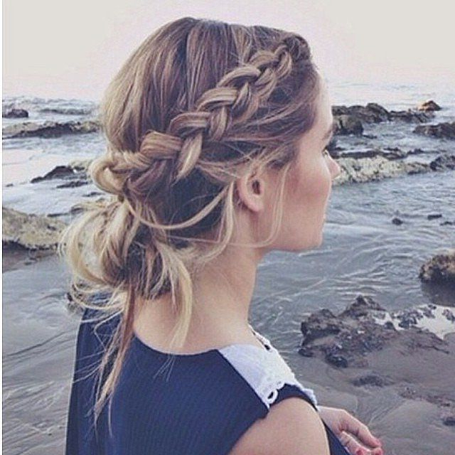 26 Boho Hairstyles With Braids – Bun Updos & Other Great New In 2020 Chunky French Braid Chignon Hairstyles (View 15 of 25)