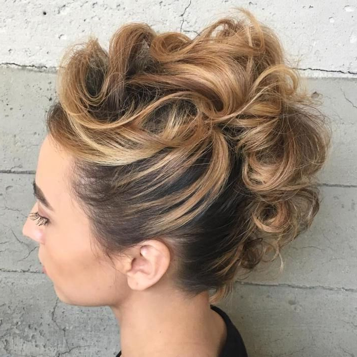 26: Curly Mohawk Updo This Elegant Hairstyle Is Highly With Regard To Curly Mohawk Updo Hairstyles (View 2 of 25)