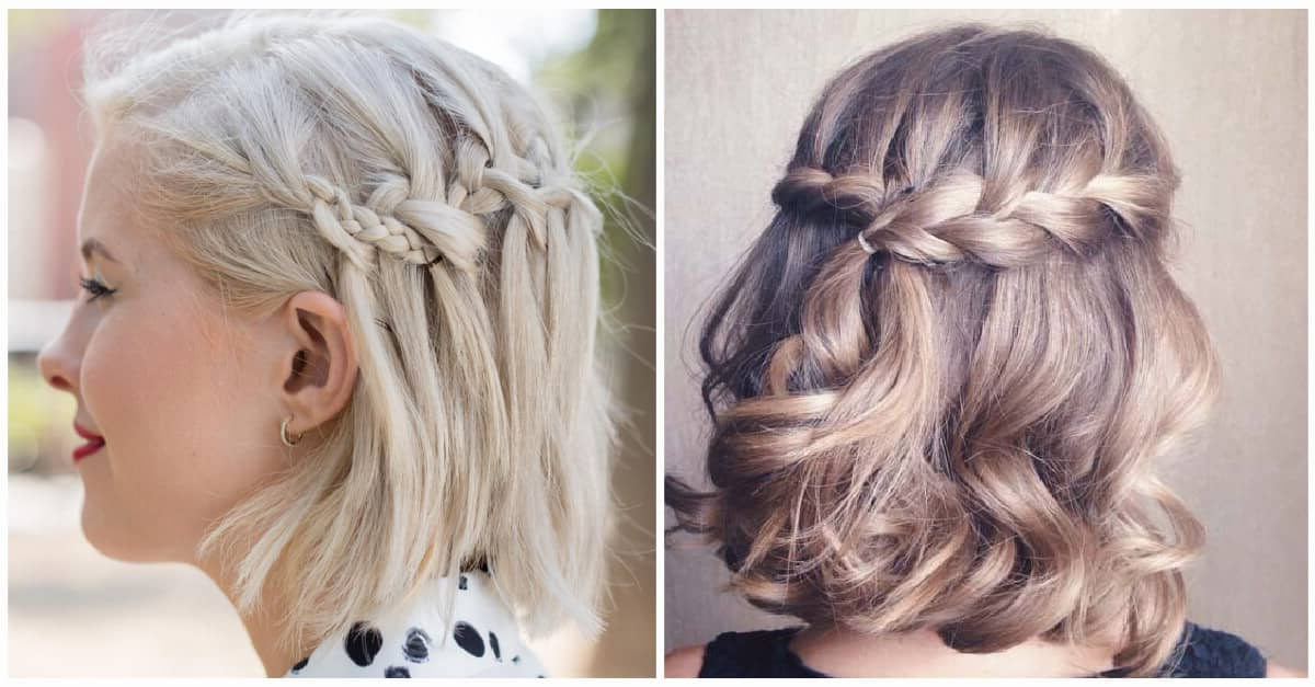 27 Beautiful And Fresh Braid Hairstyle Ideas For Short Hair With Recent Asymmetrical French Braided Hairstyles (View 18 of 25)