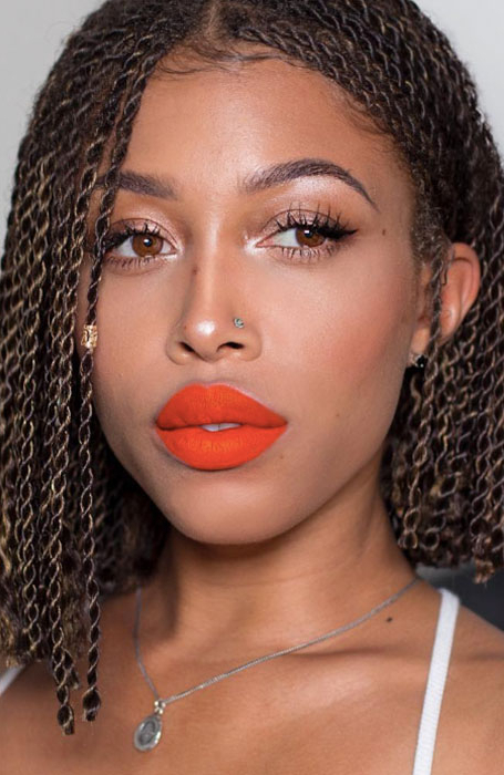27 Chic Senegalese Twist Hairstyles For Women – The Trend Pertaining To Current Twisted Lob Braided Hairstyles (View 13 of 25)