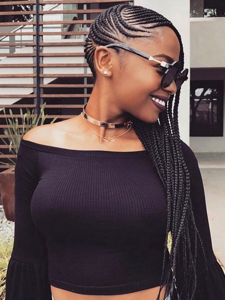 27 Sexy Lemonade Braids You Need To Try – The Trend Spotter Pertaining To Most Recently Side Cornrows Braided Hairstyles (View 18 of 25)