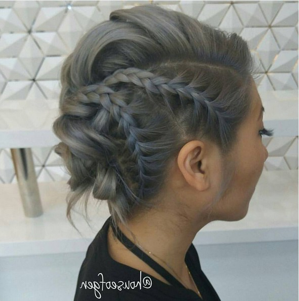 27 Super Trendy Updo Ideas For Medium Length Hair – Popular For Double Twist Bun Updo Hairstyles (View 20 of 25)