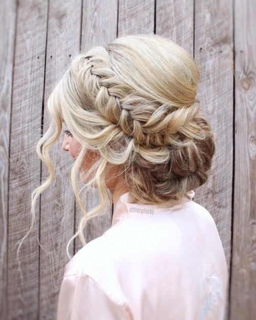 28 Cute & Easy Updos For Long Hair (2019 Trends) With Regard To Blinged Out Bun Updo Hairstyles (View 9 of 25)
