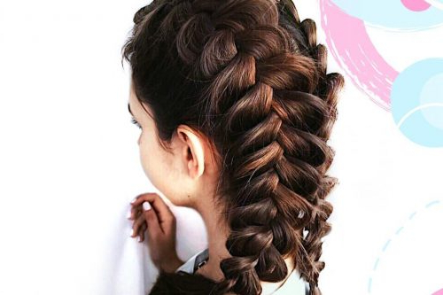 29 Gorgeous Braided Updo Ideas For 2019 Pertaining To Best And Newest Asymmetrical French Braided Hairstyles (View 21 of 25)