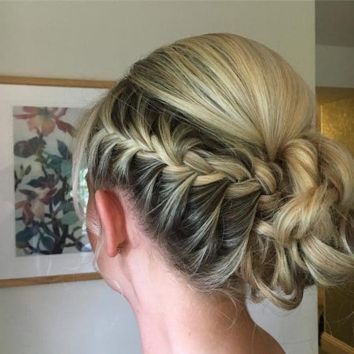 29 Gorgeous Braided Updo Ideas For 2019 Regarding Most Popular Plaited Chignon Braided Hairstyles (View 24 of 25)