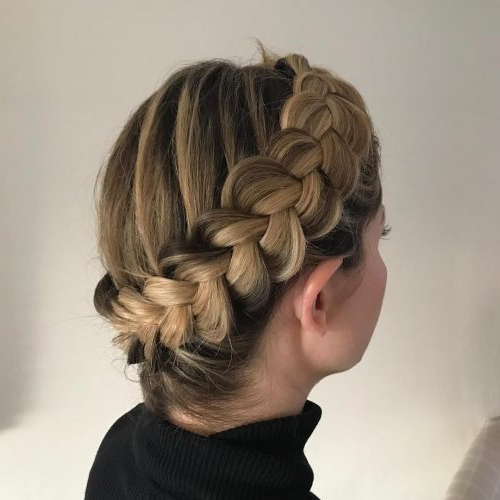 29 Gorgeous Braided Updo Ideas For 2019 Throughout Latest Plaited Chignon Braided Hairstyles (View 4 of 25)