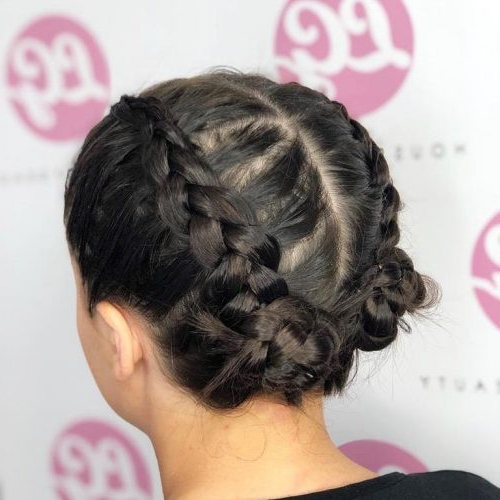 29 Gorgeous Braided Updo Ideas For 2019 Throughout Multi Braid Updo Hairstyles (View 20 of 25)