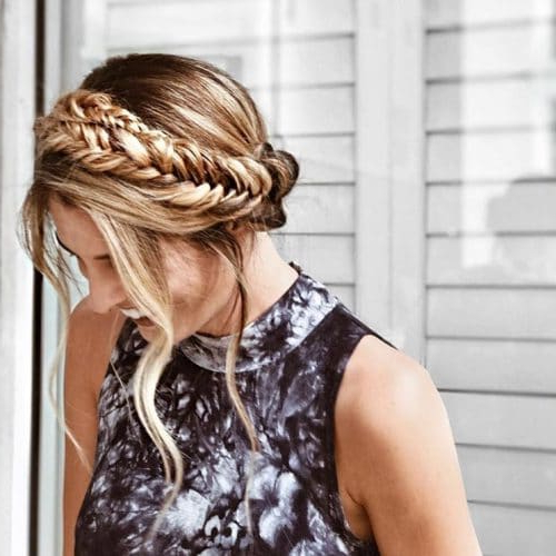 29 Gorgeous Braided Updo Ideas For 2019 With Most Popular Fishtail Crown Braided Hairstyles (View 12 of 25)