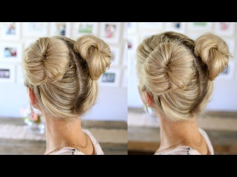3 Easy Double Buns | Space Buns For Thin, Normal, & Thick For Double Mini Buns Updo Hairstyles (View 15 of 25)