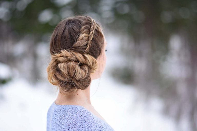 3 Holiday Updos | Cute Girls Hairstyles Inside Stacked Buns Updo Hairstyles (View 24 of 25)
